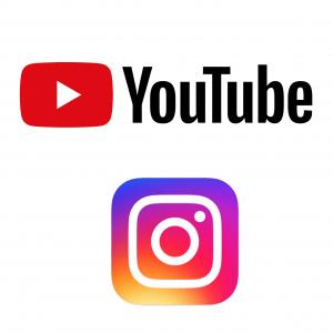 Logo von Instagram und YouTube